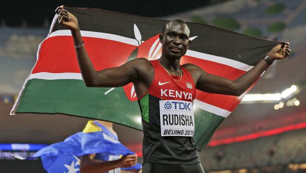 Rudisha holt sich Gold über 800 Meter zurück (Bild: AP)