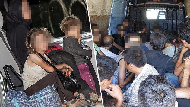 Schlepper betäubt Kinder auf Fahrt nach Österreich (Bild: APA/LPD NÖ, APA/FOTOKERSCHI.AT (Symbolbild))