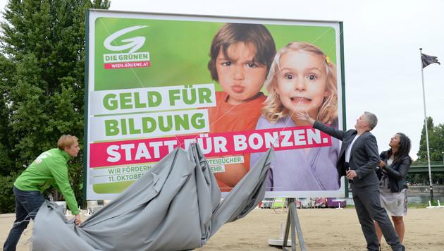 """""""Unbequeme"""" Grüne gegen """"Miethai"""" und """"Bonzen"""" (Bild: APA/HANS KLAUS TECHT)"""