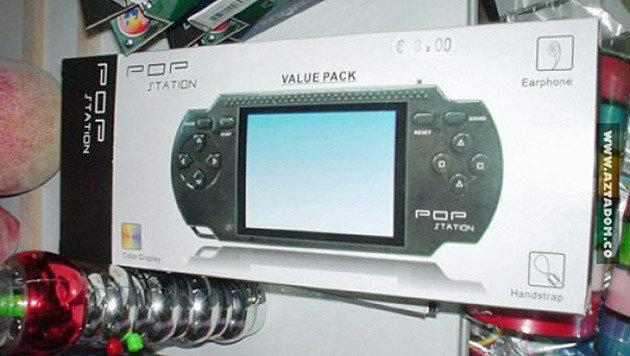 Aus Sonys PlayStation Portable wurde bei diesem unbekannten Hersteller kurzerhand die POP Station. (Bild: boredpanda.com)