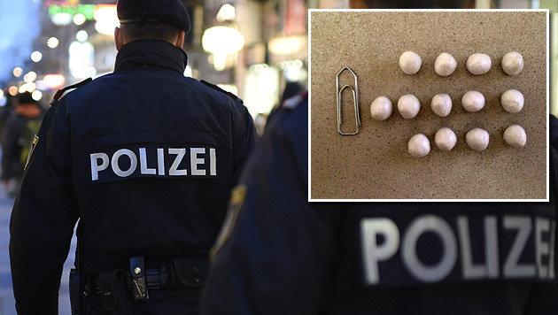 """Dealer-""""Frischling"""" am 1. Tag von Polizei gefasst (Bild: APA/HELMUT FOHRINGER (Symbolbild), LPD Wien)"""