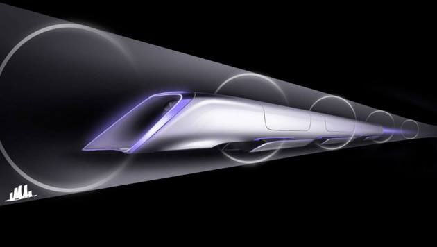 In den luftleeren Röhren sollen Hightech-Zuggarnituren mit Druckkabinen verkehren. (Bild: facebook.com/hyperlooptransportationtech)