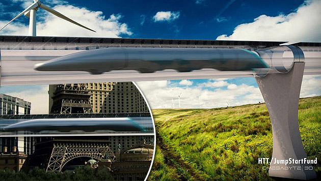 """Hyperloop"" zwischen Bratislava und Wien angedacht (Bild: hyperlooptech.com)"