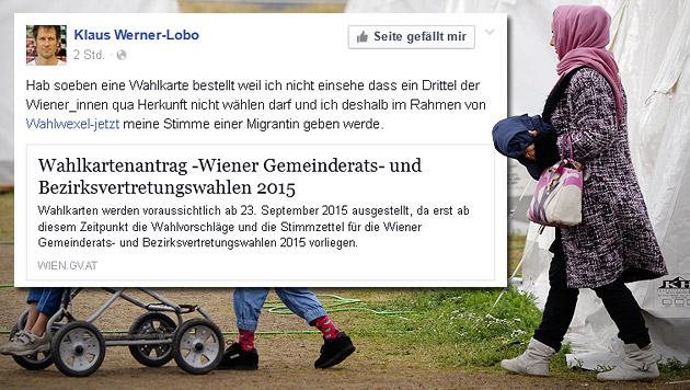 Wahlstimme für Migrantin: Politiker angezeigt (Bild: APA/HANS KLAUS TECHT, facebook.com/olobo)