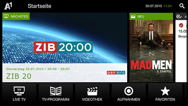 """""""3TV:"""" Drei startet Kabelfernsehen übers Internet (Bild: A1, krone.at-Grafik)"""