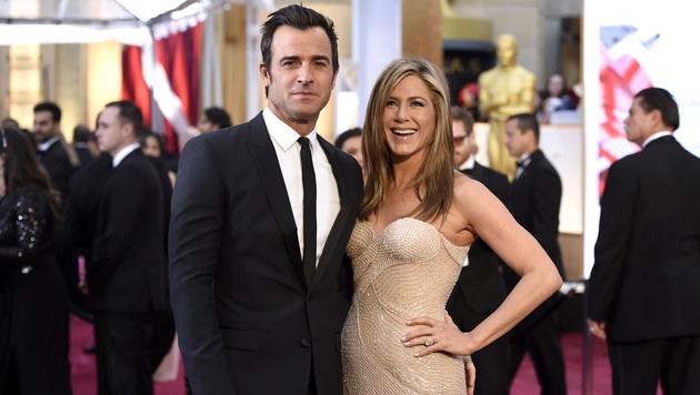 Seit Anfang August 2015 sind Justin Theroux und Jennifer Aniston verheiratet. (Bild: Chris Pizzello/Invision/AP)
