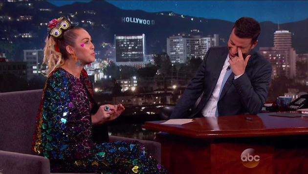 ... war sogar Talker Jimmy Kimmel peinlich berührt. (Bild: Viennareport)