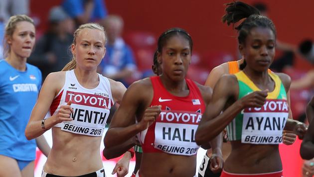 Sensation in Peking! Jenni Wenth im 5000-m-Finale (Bild: GEPA)