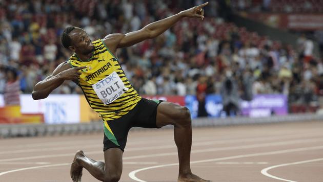 Überragend! Bolt holt auch WM-Titel über 200 m (Bild: AP)