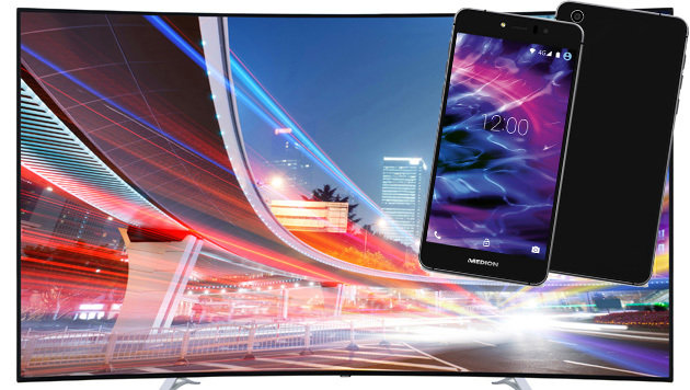 Medion bringt Edel-Smartphones und 4K-TV-Gigant (Bild: Medion)