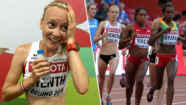 Sensation in Peking! Jenni Wenth im 5000-m-Finale (Bild: Brockmann, GEPA)