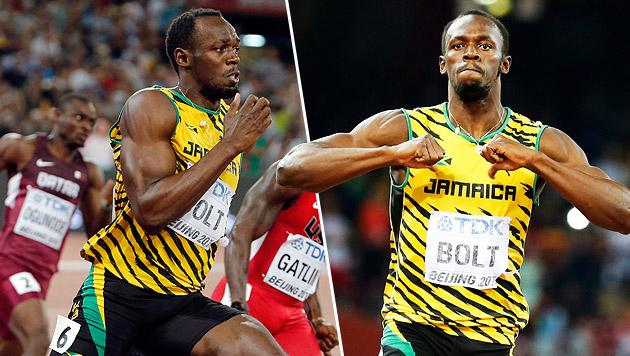 Überragend! Bolt holt auch WM-Titel über 200 m (Bild: AP, APA/EPA/SRDJAN SUKI)