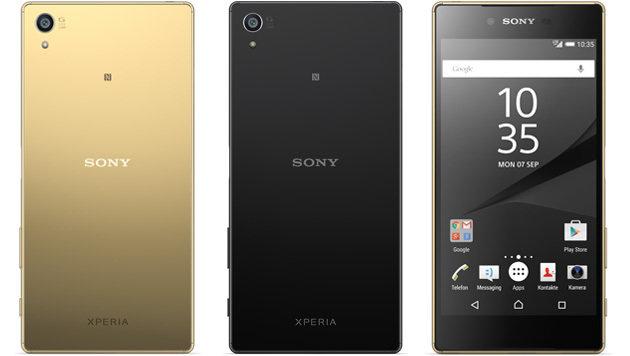 Das Z5 Premium kommt in den Farben Schwarz, Gold und Silber. (Bild: Sony)