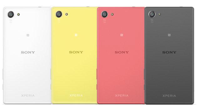 """Beim Z5 Compact bietet Sony zwei besonders bunte Varianten an: Gelb und """"Koralle"""". (Bild: Sony)"""