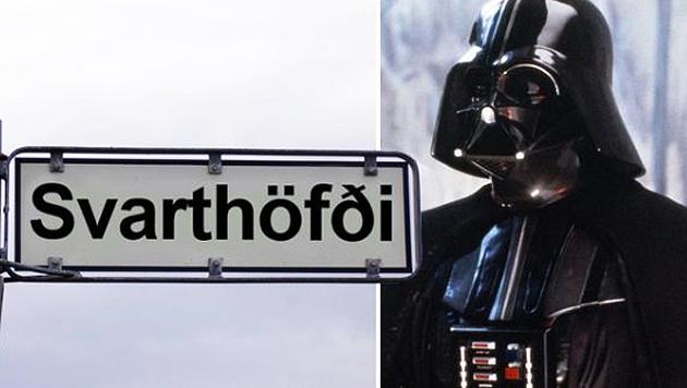 Reykjavik benennt Straße nach Darth Vader (Bild: Twitter.com/Nutiminn)