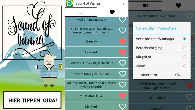 """""""Sound of Vienna"""" bringt Wiener Schmäh aufs Handy (Bild: Team Leiwand)"""
