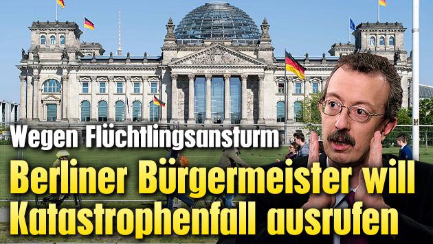 Berliner Bürgermeister: Katastrophenfall ausrufen (Bild: APA/EPA/GREGOR FISCHER, Christian Hanke)