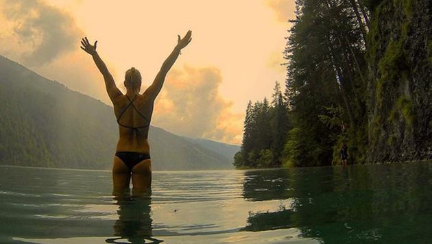 Wow! Lisa Zaisers Luxus-Körper begeistert Olympia! (Bild: instagram.com/Lisa Zaiser)