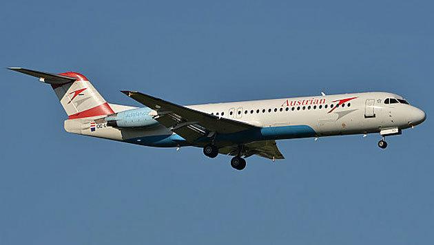 Eine Fokker 100 der AUA-Flotte (Bild: Kronen Zeitung)