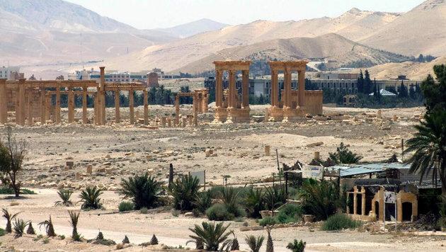 Der Baal-Tempel vor der Sprengung (Bild: AP)