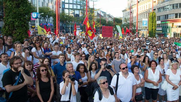 Asylpolitik: 20.000 Menschen bei Demo in Wien (Bild: APA/GEORG HOCHMUTH)