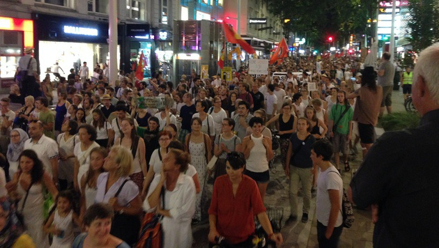 Asylpolitik: 20.000 Menschen bei Demo in Wien (Bild: Stephan Schätzl)