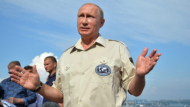 Putin lehnte eine Rückgabe der Krim bisher ab. (Bild: APA/EPA/ALEXEY NIKOLSKY/RIA NOVOSTI/KREMLIN)