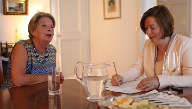 Ursula Stenzel im Interview mit Conny Bischofberger (Bild: Gerhard Bartel)