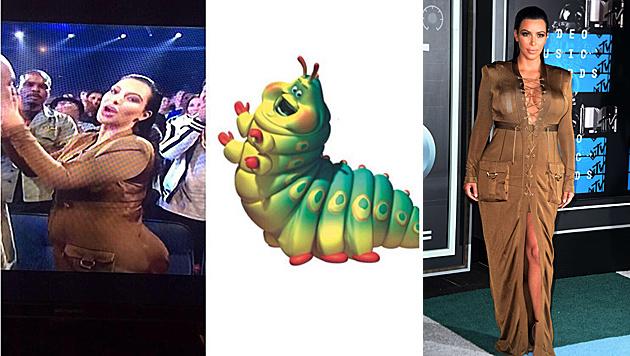 Kim Kardashian muss sich viel Internet-Spott wegen ihres VMA-Outfits gefallen lassen. (Bild: instagram.com/ShaunWilding, AFP)