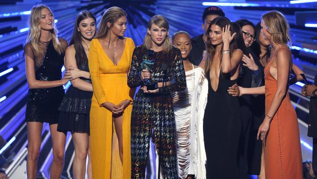 Taylor Swift brachte ihre Promi-Clique mit zu den VMAs. (Bild: Matt Sayles/Invision/AP)