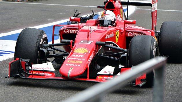 Sebastian Vettel blieb in Spa wegen eines Reifenschadens ohne Punkte. (Bild: AP)