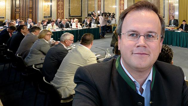 Harald Dobernig erneut ins Hohe Haus geladen (Bild: APA/ROLAND SCHLAGER, APA/GERT EGGENBERGER)