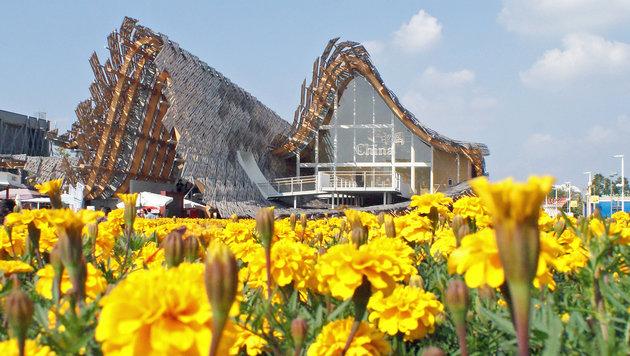 China beeindruckt mit einer extravaganten Dachkonstruktion. (Bild: Fritz Schneeberger)