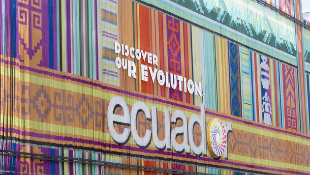 Der Pavillon von Ecuador (Bild: Fritz Schneeberger)