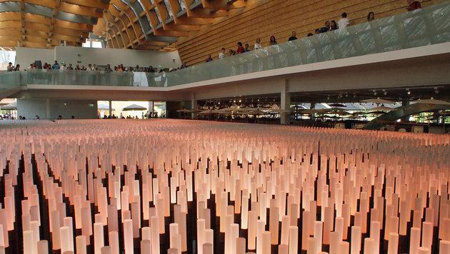 Lichtinstallation im China-Pavillon (Bild: Fritz Schneeberger)