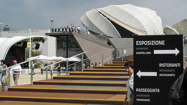 Der Deutsche Pavillon am Expo-Gelände (Bild: Fritz Schneeberger)