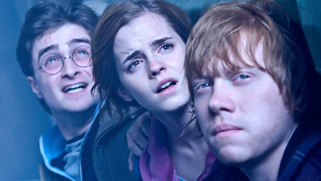"""Rupert Grint mit seinen """"Harry Potter""""-Costars Emma Watson und Daniel Radcliffe (Bild: Viennareport)"""