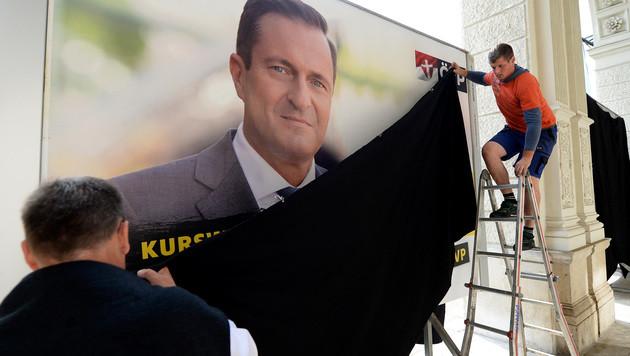 """Wien-Wahl: ÖVP wirbt für """"Kurswechsel jetzt!"""" (Bild: APA/ROLAND SCHLAGER)"""