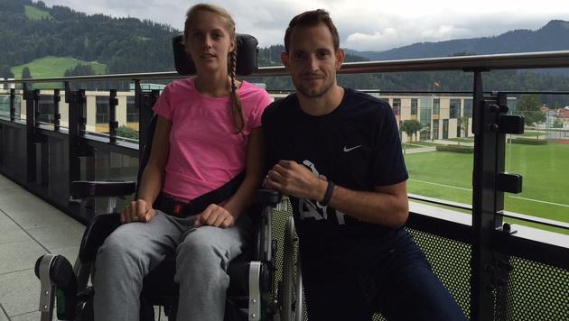 Kira Grünberg mit Weltrekordler Renaud Lavillenie (Bild: Tom Sports Consulting)