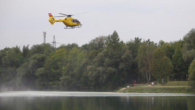Der per Hubschrauber eingetroffene Notarzt konnte nur noch den Tod der 64-Jährigen feststellen. (Bild: Matthias Lauber)