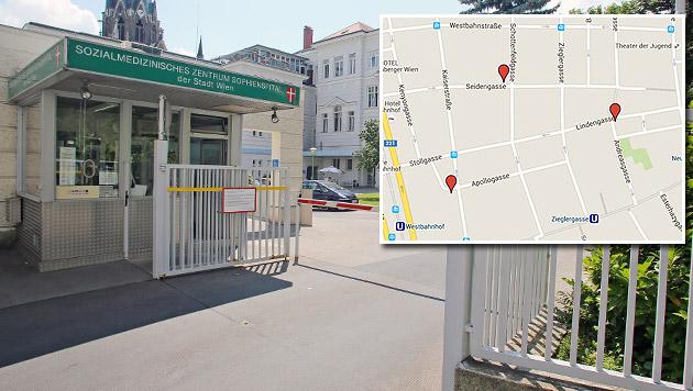 Drei neue Asylquartiere in Wien-Neubau geplant (Bild: Martin Jöchl, google.at/maps)