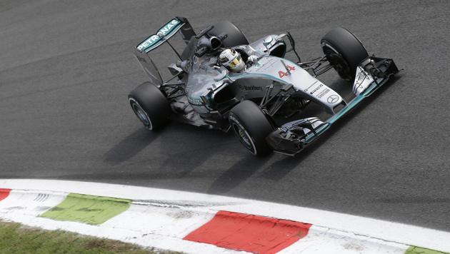 Hamilton in Monza schnellster Mann am Freitag (Bild: AP)