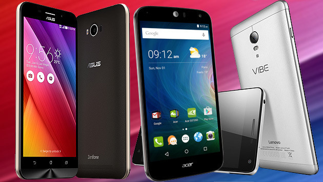 IFA: Smartphones mit Monster-Akku erobern Berlin (Bild: Lenovo, Asus, Acer, krone.at-Grafik)
