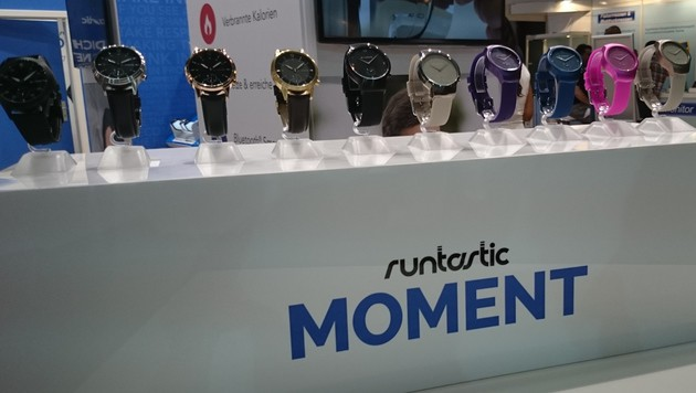 "Runtastic enthüllt analoge Smartwatch ""Moment"" (Bild: Dominik Erlinger)"