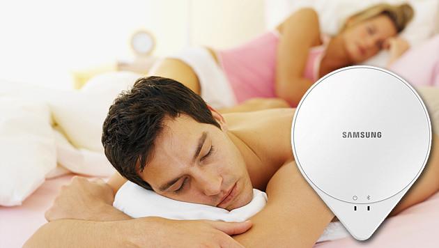 So wollen Samsung und Co unseren Schlaf überwachen (Bild: photos.com, Samsung, krone.at-Grafik)