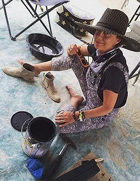 Susan Sarandon betätigt sich künstlerisch. (Bild: Viennareport)