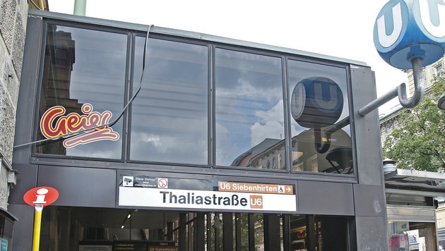 Teilsperre der U6-Station Thaliastraße (Bild: Reinhard Holl)