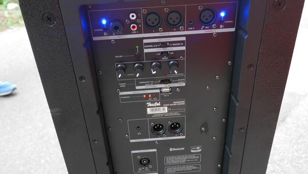 Ob Klinke, XLR, Cinch oder Bluetooth: Der Rockster bietet ausreichend Anschlussmöglichkeiten. (Bild: krone.at)