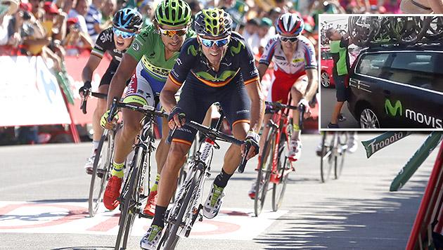 Elektromotor für Radstars? Wirbel bei Vuelta (Bild: APA/EPA/Javier Lizon, YouTube.com)