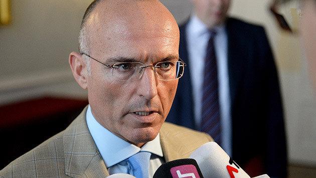 """""""Wir haben die Profis und würden dafür zur Verfügung stehen"""": Verteidigungsminister Klug (Bild: APA/ROLAND SCHLAGER)"""